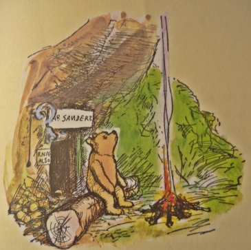 Image result for winnie the pooh coloured shepard drawings
