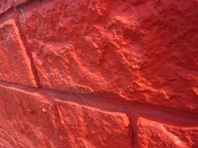 red stone wall