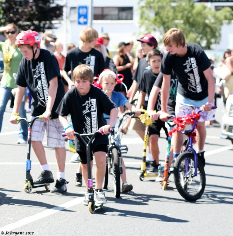 kids on bikes and scooters
