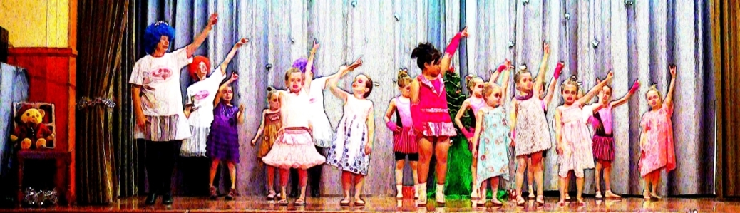 children on stage