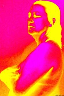 digitally altered portrait
