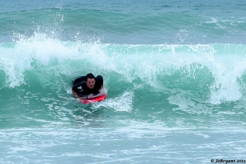 body board surfing