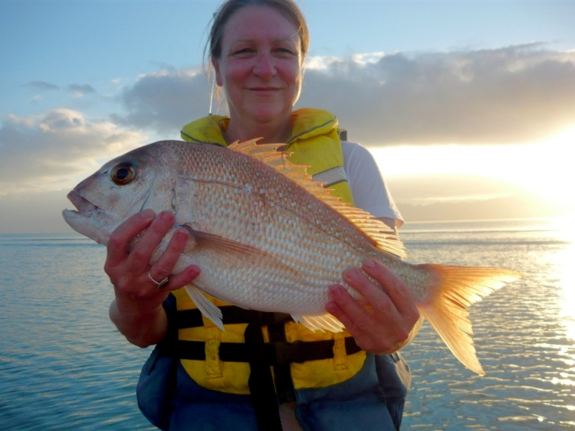 Jo Bryant and snapper