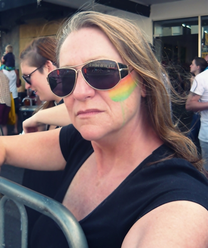 At Auckland's Gay Pride Parade
