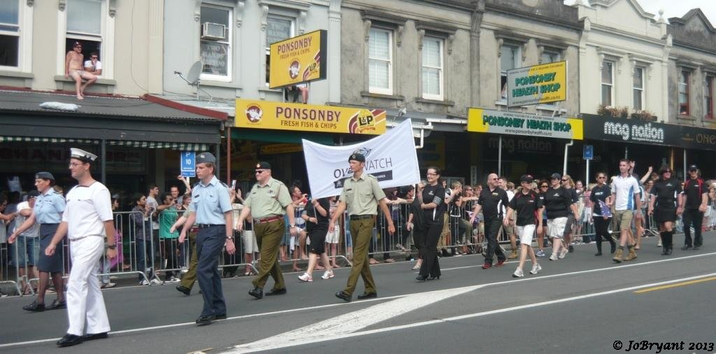 NZ's Defence Forces marching for the first time in uniform.