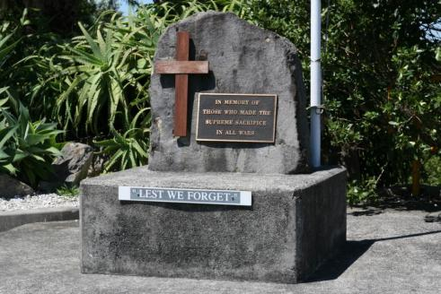 This stands in memorial to fallen Kiwi soldiers at Waihi Beach RSA