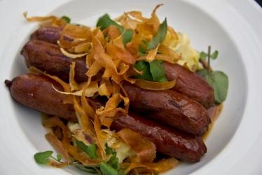 Smoked venison sausage