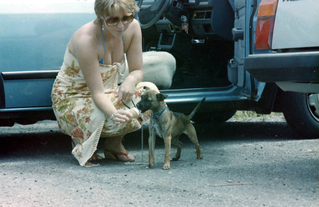 Me with Tia on a road trip to Queensland. She loved ice cream.