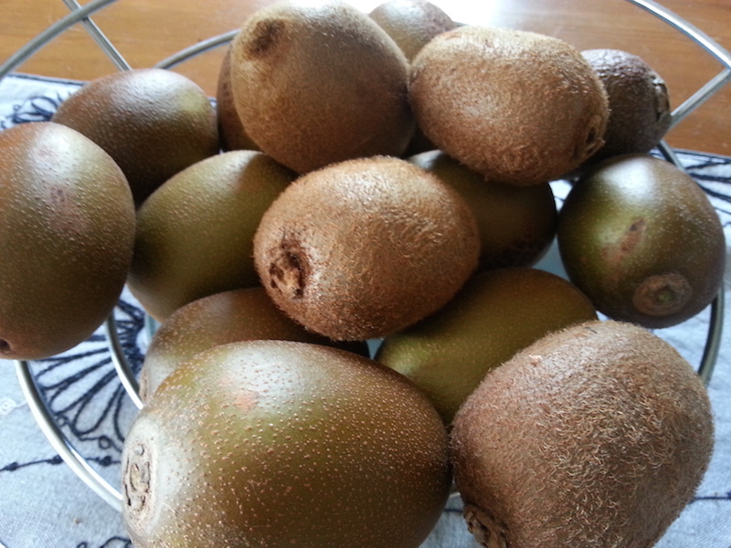 Some gold & green kiwifruit. Personally I don't think it is 'real' kiwifruit unless it is green & furry.